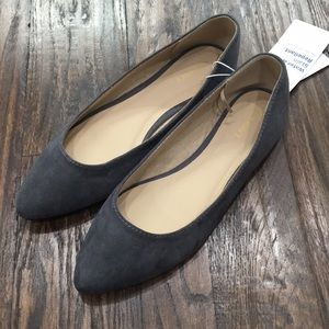 Old Navy gray Suede Pointed flats - brand new
